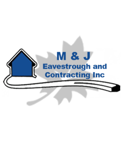 M & J Eavestrough and Contracting Inc. Logo - Eavestrough and Commercial Gutter Installations Gander